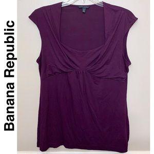 Euc Banana Republic stretch blouse XL